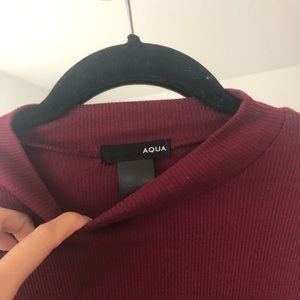 Aqua Dresses - Burgundy/Maroon Aqua shift dress